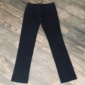 Theory Ribbed Black Pants
